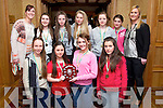 St. Marys Castleisland, Front l-r Aisling O'Connell, Nicole Downey, Labhaoise Walmsley, Siobhan Collins, Back l-r Joanne Walmsley, Maebh Young, Shauna Ahern, Sarah O'Sullivan, Anna Lynch, Clodagh O'Connor and Joanne Downeyat the Kerry Juvenile Basketball Awards at the Meadowlands Hotel on Friday