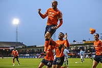 Scott Cuthbert of Luton Town (6) celebrates after he scores his team's second goal of the game to make the score 2-1 on the night during the Sky Bet League 2 Play Off Semi Final 2 leg match between Luton Town and Blackpool at Kenilworth Road, Luton, England on 18 May 2017. Photo by David Horn.