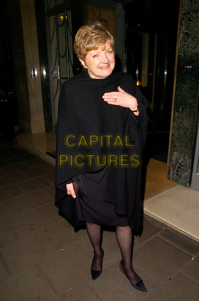 ANGELA LONSDALE.The Radio Times Covers party, Claridges Hotel, London, England..January 22nd, 2008.full length black wrap shawl pashmina.CAP/CAN.©Can Nguyen/Capital Pictures