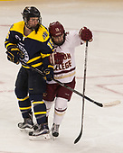 Jackie Pieper (Merrimack - 15), Haley McLean (BC - 13) - The number one seeded Boston College Eagles defeated the eight seeded Merrimack College Warriors 1-0 to sweep their Hockey East quarterfinal series on Friday, February 24, 2017, at Kelley Rink in Conte Forum in Chestnut Hill, Massachusetts.The number one seeded Boston College Eagles defeated the eight seeded Merrimack College Warriors 1-0 to sweep their Hockey East quarterfinal series on Friday, February 24, 2017, at Kelley Rink in Conte Forum in Chestnut Hill, Massachusetts.