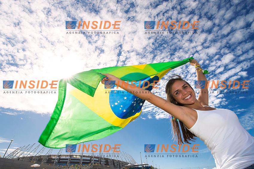 Tifosi Brasile<br /> Fortaleza (Brasile) 04-07-2014 Estadio Castelao Quarter-Finals / Quarti di finale Brazil - Colombia / Brasile - Colombia. Football 2014 Fifa World Cup Brazil - Campionato del Mondo di Calcio  Brasile 2014 <br /> Foto Fotoarena/Panoramic/Insidefoto