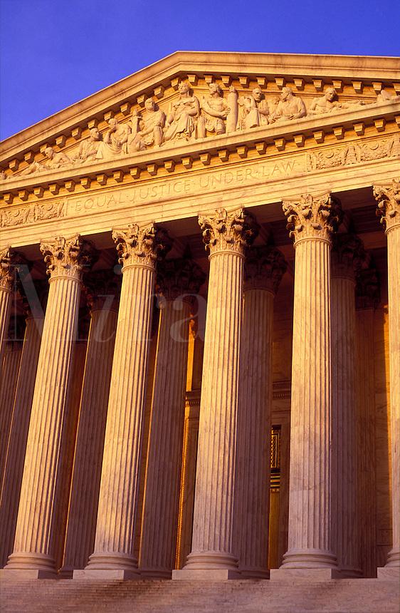 USA, Washington D.C. The Supreme Court Building