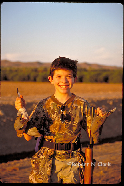 Young hunter with his first two Doves!