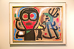 'People and Birds' 1963 by Joan Miro <br /> (1893-1983), vinyl on panel Kode 4 art gallery Bergen, Norway - check copyright status for intended use