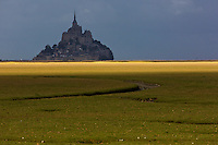 Europe/France/Normandie/Basse-Normandie/50/Manche/ Courtilss : Baie du Mont Saint-Michel, classée Patrimoine Mondial de l'UNESCO, Le Mont Saint-Michel   // Europe/France/Normandie/Basse-Normandie/50/Manche/ Vains : Bay of Mont Saint Michel, ,listed as World Heritage by UNESCO,  The Mont Saint-Michel