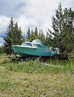 A boat near in Grand Lake, Colorado, Monday, June 30, 2015. <br /> <br /> Photo by Matt Nager