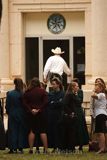 Eldorado - at the Schleicher County Courthouse Wednesday, June 25, 2008, where a grand jury met to hear evidence of possible crimes involving FLDS church members from the YFZ ranch. Sheriff David Doran