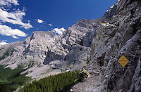 CANADA, ALBERTA, KANANASKIS, MAY 2002. Ribbon Falls Trail.  The Kananaskis Country provincial park is home to Canada's most beautiful nature and wildlife. It has also escaped the mass tourism as in Banff National Park. Photo by Frits Meyst/Adventure4ever.com