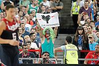 Basque independence activist during 2014 FIBA Basketball World Cup Quarter-Finals match.September 9,2014.(ALTERPHOTOS/Acero)