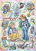 Interlitho, Dani, TEENAGERS, paintings, 2 boys, football(KL4116,#J#) Jugendliche, jóvenes, illustrations, pinturas ,everyday