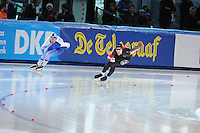 SPEED SKATING: STAVANGER: Sørmarka Arena, 31-01-2016, ISU World Cup, 500m Men Division A, Mika Poutala (FIN), William Dutton (CAN), ©photo Martin de Jong