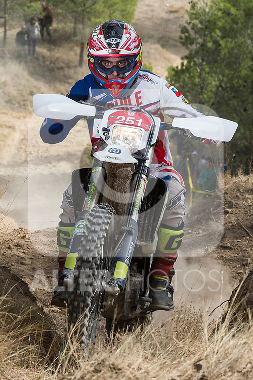 Chile's Alvaro Gallegos during the first day World trophy class of the FIM international six days of enduro 2016 in Navarra, Spain. October 11, 2016. (ALTERPHOTOS/Rodrigo Jimenez)