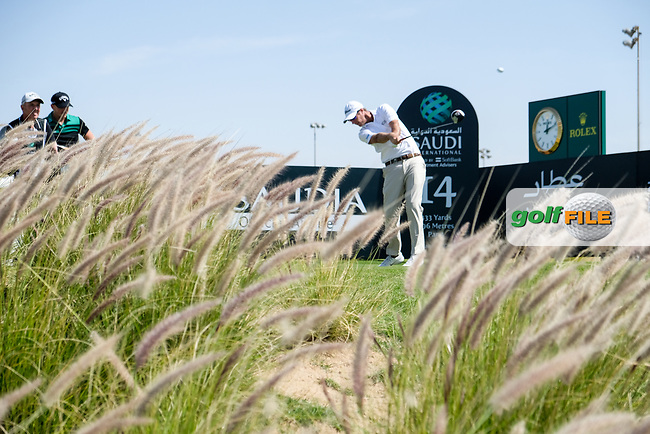Nicolas Colsaerts (BEL) on the 14th tee during the final round of  the Saudi International powered by Softbank Investment Advisers, Royal Greens G&CC, King Abdullah Economic City,  Saudi Arabia. 02/02/2020<br /> Picture: Golffile | Fran Caffrey<br /> <br /> <br /> All photo usage must carry mandatory copyright credit (© Golffile | Fran Caffrey)