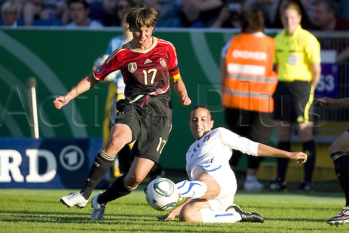 03.06.2011. International Womens Frienfly Football. Germany versus Italy.    Ariane Hingst left ger against Alice Parisi ITA