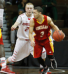 SIOUX FALLS, SD - MARCH 14: Javis Flynn #3 from Pittsburg State backs down the defense of Jordan Riewer #2 from Minnesota State University Moorhead in the second half of their NCAA Division II Central Region Basketball Tournament game Saturday afternoon at the Sanford Pentagon in Sioux Falls, SD. (Photo by Dave Eggen/Inertia)