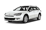 2016 Citroen C5-Tourer Hydractive-Exclusive 5 Door wagon Angular Front stock photos of front three quarter view