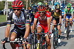 Part of the breakaway Rui Costa (POR) UAE Team Emirates and Dani Navarro (ESP) Cofidis during Stage 19 of the 2017 La Vuelta, running 149.7km from Caso. Parque Natural de Redes to Gij&oacute;n, Spain. 8th September 2017.<br /> Picture: Unipublic/&copy;photogomezsport | Cyclefile<br /> <br /> <br /> All photos usage must carry mandatory copyright credit (&copy; Cyclefile | Unipublic/&copy;photogomezsport)