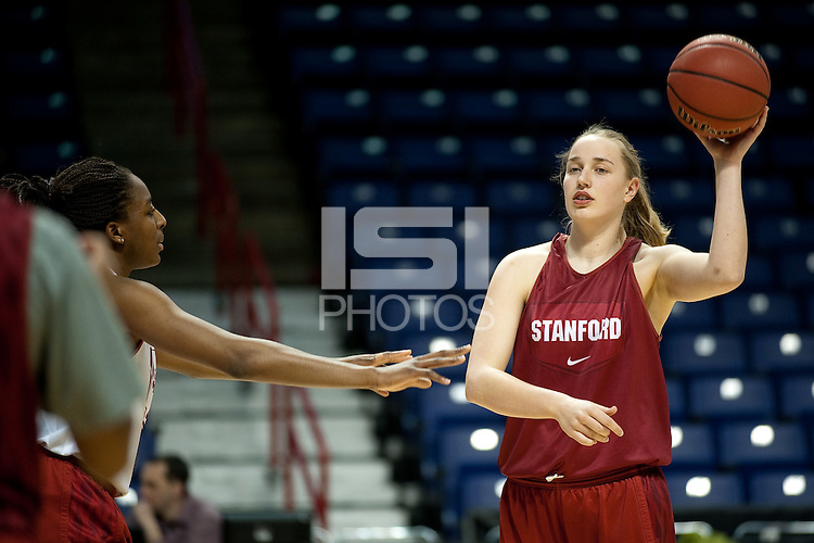 SPOKANE, WA - MARCH 27, 2011: Mikaela Ruef during the off-day pratice session, Stanford Women's Basketball, NCAA West Regionals on March 27, 2011.