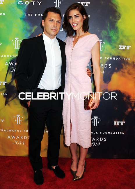 NEW YORK CITY, NY, USA - JUNE 16: Sean Avery and Hilary Rhoda arrive at the 2014 Fragrance Foundation Awards held at the Alice Tully Hall, Lincoln Center on June 16, 2014 in New York City, New York, United States. (Photo by Celebrity Monitor)