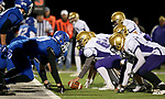 SIOUX FALLS, SD - OCTOBER 25: The Winner Warriors looks to take the lead against the Sioux Falls Christian Chargers in the first half of their 11B playoff game Thursday nigh at Bob Young Field in Sioux Falls.(Photo by Dave Eggen/Inertia)