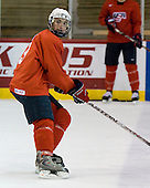 Kyle Palmieri (US White - 11) - US players take part in practice on Friday morning, August 8, 2008, in the NHL Rink during the 2008 US National Junior Evaluation Camp and Summer Hockey Challenge in Lake Placid, New York.