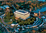 Aerial view of the  Lincoln Memorial on the eve of the new millineum 12/31/1999 - Washington DC