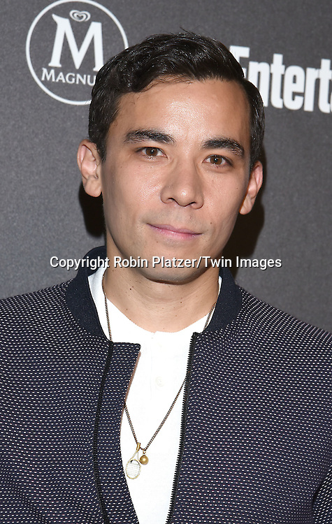Conrad Ricamora of How To Get Away with Murder attends the Entertainment Weekly &amp; PEOPLE Magazine New York Upfronts Celebration on May 16, 2016 at Cedar Lake in New York, New York, USA.<br /> <br /> photo by Robin Platzer/Twin Images<br />  <br /> phone number 212-935-0770