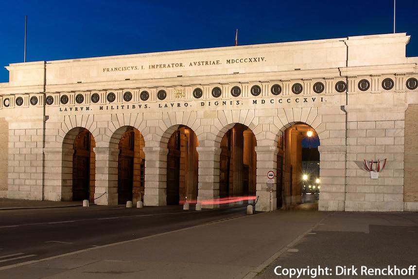 Burgtor am Burgring, Wien, &Ouml;sterreich, UNESCO-Weltkulturerbe<br /> Castle gate at Burgring, Vienna, Austria, world heritage