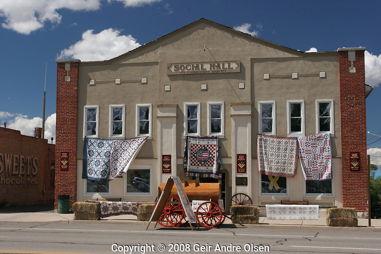 Patchwork exhibition in Panguitch, a small town in Utah, USA
