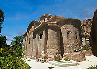 "Pictures & images of Guzelyurt Chuch Mosque, formely St Gregorius church,  9th century, the Vadisi Monastery Valley, ""Manastır Vadisi"",  of the Ihlara Valley, Guzelyurt , Aksaray Province, Turkey.<br /> <br /> Guzelyurt Chuch Mosque, formely St Gregorius church is among the most beautiful early Christian buildings in Cappadocia.  Built in 385 by Emperor Theodosius it is dedicated to St Gregory of Nazianzus, a classically trained theologian. The original church has been altered into the Greek Cross floor plan of today."