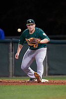 Siena Saints first baseman Joe Drpich (47) during a game against the Stetson Hatters on February 23, 2016 at Melching Field at Conrad Park in DeLand, Florida.  Stetson defeated Siena 5-3.  (Mike Janes/Four Seam Images)