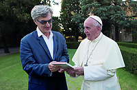 Pope Francis: A Man of His Word (2018) <br /> Wim Wenders (Director), Pope Francis<br /> *Filmstill - Editorial Use Only*<br /> CAP/MFS<br /> Image supplied by Capital Pictures