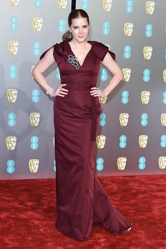 Amy Adams<br /> arriving for the BAFTA Film Awards 2019 at the Royal Albert Hall, London<br /> <br /> ©Ash Knotek  D3478  10/02/2019