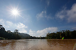 A view of The Kinabatangan River on Tuesday April 30th 2013 in Bilit, Malaysia. (Photo by Brian Garfinkel)