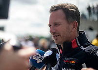 Christian HORNER (GBR) (ASTON MARTIN RED BULL RACING) Team principal during the Formula 1 Rolex British Grand Prix 2019 at Silverstone Circuit, Towcester, England on 14 July 2019. Photo by Vince  Mignott.