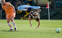 Christie Rampone (3) trips up Tiffany Weimer (right). FC Gold Pride defeated Sky Blue FC 1-0 at Buck Shaw Stadium in Santa Clara, California on May 3, 2009.