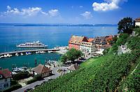 DEU, Deutschland, Baden-Wuerttemberg, Bodensee, Meersburg: Schiffsanlegestelle in der Unterstadt | DEU, Germany, Baden-Wuerttemberg, Lake Constance, Meersburg: ship landing-stage