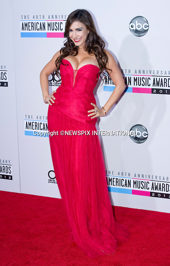 """MAYRA VERONICA.attends the 40th American Music Awards, Nokia Theatre, Los Angeles_18/11/2012.Mandatory Photo Credit: ©Francis Dias/Newspix International..**ALL FEES PAYABLE TO: """"NEWSPIX INTERNATIONAL""""**..PHOTO CREDIT MANDATORY!!: NEWSPIX INTERNATIONAL(Failure to credit will incur a surcharge of 100% of reproduction fees)..IMMEDIATE CONFIRMATION OF USAGE REQUIRED:.Newspix International, 31 Chinnery Hill, Bishop's Stortford, ENGLAND CM23 3PS.Tel:+441279 324672  ; Fax: +441279656877.Mobile:  0777568 1153.e-mail: info@newspixinternational.co.uk"""