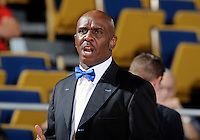 Florida International University Assistant Coach, William Eddie, Jr., during the game against Troy University, which won the game 75-70 in overtime on February 23, 2012 at Miami, Florida. .