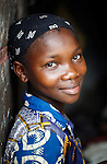 A young girl outside of Abidjan, Cote D'Ivoire.