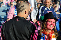 Stade Francais fans before the Amlin Challenge Cup Final between Leinster Rugby and Stade Francais at the RDS Arena, Dublin on Friday 17th May 2013 (Photo by Rob Munro).