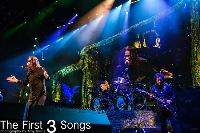 Ozzy Osbourne and Tony Iommi of Black Sabbath performs at Klipsch Music Center in Indianapolis, Indiana.