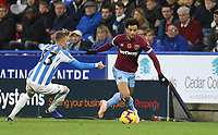 West Ham United's Felipe Anderson and Huddersfield Town's Florent Hadergjonaj<br /> <br /> Photographer Rob Newell/CameraSport<br /> <br /> The Premier League - Huddersfield Town v West Ham United - Saturday 10th November 2018 - John Smith's Stadium - Huddersfield<br /> <br /> World Copyright © 2018 CameraSport. All rights reserved. 43 Linden Ave. Countesthorpe. Leicester. England. LE8 5PG - Tel: +44 (0) 116 277 4147 - admin@camerasport.com - www.camerasport.com