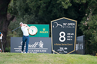 Grant Forrest (SCO) in action on the 8th hole during the first round of the 76 Open D'Italia, Olgiata Golf Club, Rome, Rome, Italy. 10/10/19.<br /> Picture Stefano Di Maria / Golffile.ie<br /> <br /> All photo usage must carry mandatory copyright credit (© Golffile | Stefano Di Maria)