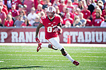 Wisconsin Badgers wide receiver Quintez Cephus (87) carries the ball during an NCAA Big Ten Conference football game against the Maryland Terrapins Saturday, October 21, 2017, in Madison, Wis. The Badgers won 38-13. (Photo by David Stluka)