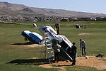 Doral Red Rock Academy students paint Cadillacs at the driving range at the Silver Oak Golf Course, in Carson City, Nev., on Sunday, April 8, 2018. The Las Vegas art students' work was a Carson City history theme. <br /> Photo by Cathleen Allison/Nevada Momentum