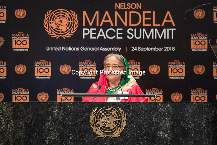 Opening Plenary Meeting of the Nelson Mandela Peace Summit<br /> <br /> Her Excellency Sheikh HASINAPrime Minister of the People s Republic of Bangladesh