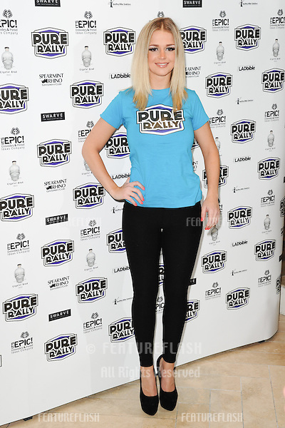 Holly Eriksson arrives for the launch of Pure Rally at the Millennium Hotel, Grosvenor Square, London. 23/01/2014 Picture by: Steve Vas / Featureflash
