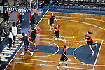 SIOUX FALLS, SD: MARCH 23:  Central Missouri warms up before their game against Ashland at the 2018 Division II Women's Basketball Championship at the Sanford Pentagon in Sioux Falls, S.D. (Photo by Dick Carlson/Inertia)