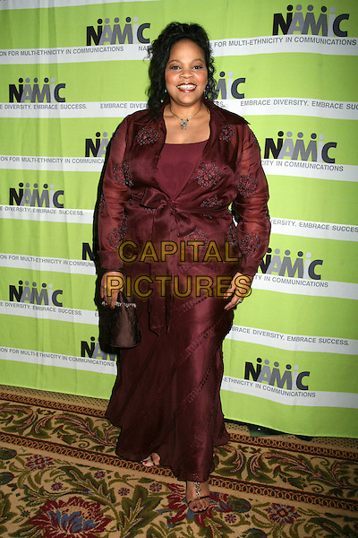 TONYE PATANO.12th Annual NAMIC Vision Awards, Beverly Hills, California, USA..April 18th, 2006.Photo: Byron Purvis/AdMedia/Capital Pictures.Ref: BP/ADM.full length burgundy maroon dress .www.capitalpictures.com.sales@capitalpictures.com.© Capital Pictures.